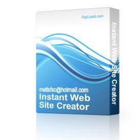 instant web site creator