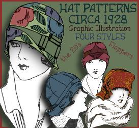 Make a 1920's Hat ~Vintage PATTERNS for 4 STYLES ~the SHIRLEY Collection | eBooks | Arts and Crafts