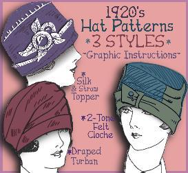 Make a FLAPPER Hat ~Vintage PATTERNS for 3 STYLES ~the Marjorie Collection | eBooks | Arts and Crafts