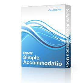 simple accommodation booking script