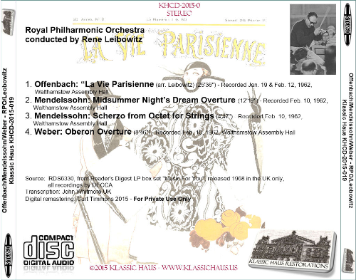 First Additional product image for - Music by Offenbach, Mendelssohn, and Weber - Royal Philharmonic Orchestra/Rene Leibowitz