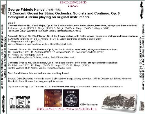 First Additional product image for - Handel: 12 Concerti Grossi, Op. 6 - Collegium Aureum