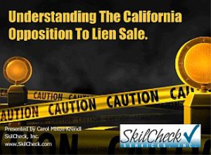 Understanding the California Opposition to Lien Sale | Movies and Videos | Educational