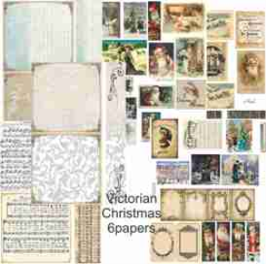 victorian christmas papercraft pack