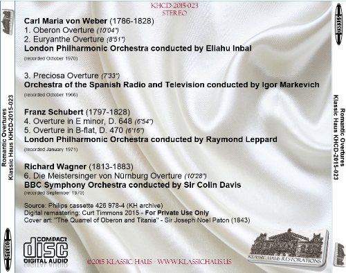 First Additional product image for - Romantic Overtures - Music by Weber, Schubert and Wagner