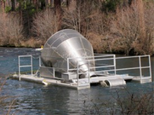 downstream screw-trap for kakanee salmon caclulation count