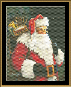 Kris Kringle | Crafting | Cross-Stitch | Wall Hangings