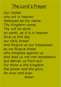 the lord's prayer, read by rev. bill mcginnis