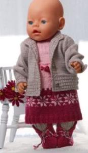 DollKnittingPattern 0134D KAREN - Rokje, Jasje, Broek, Trui, Muts en Schoentjes-(Nederlands) | Crafting | Knitting | Other