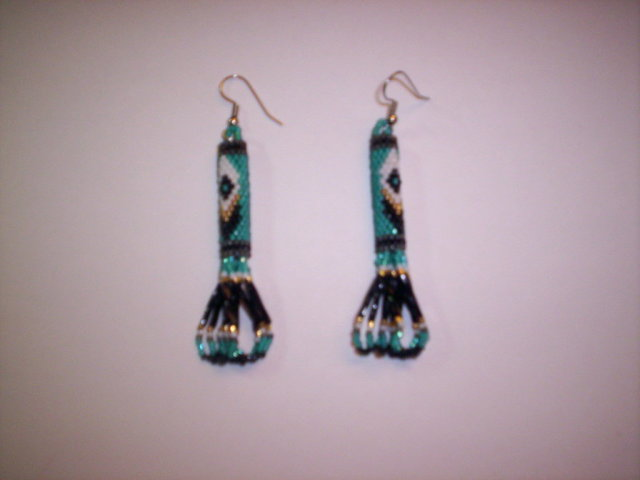 First Additional product image for - Brick Stitch Cylinder/Tube Delica Seed Beading Earring 12 Patterns