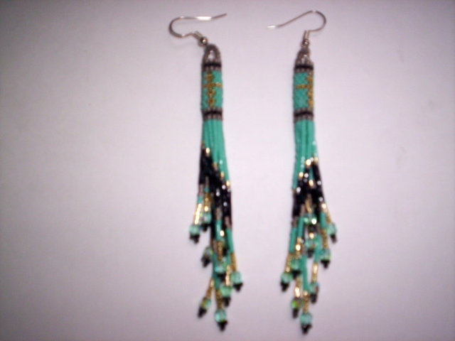 Second Additional product image for - Brick Stitch Cylinder/Tube Delica Seed Beading Earring 12 Patterns