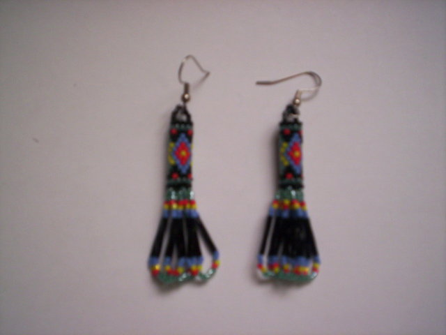 Third Additional product image for - Brick Stitch Cylinder/Tube Delica Seed Beading Earring 12 Patterns