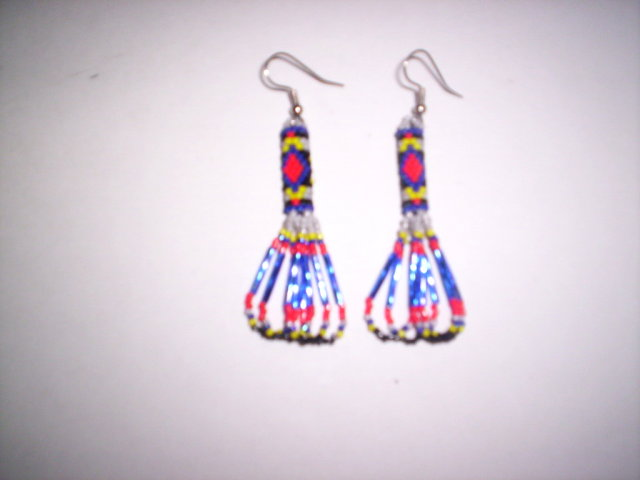 Fourth Additional product image for - Brick Stitch Cylinder/Tube Delica Seed Beading Earring 12 Patterns