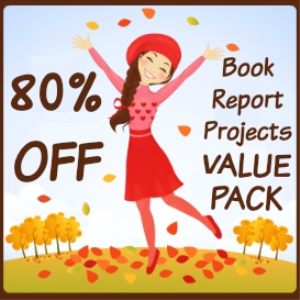 fall in love with reading value pack: 28 book report projects/14 free gifts