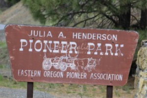 pioneer park sign | Photos and Images | Travel