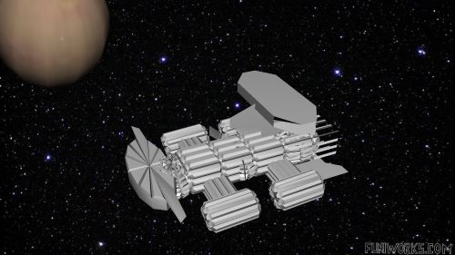 First Additional product image for - Sci-Fi Spacecraft Wallpaper 3