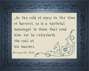 Faithful Messenger | Crafting | Cross-Stitch | Religious