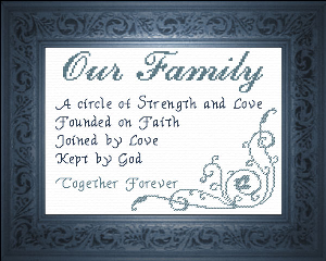 Our Family  - Poem - Chart | Crafting | Cross-Stitch | Other