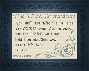 The Third Commandment | Crafting | Cross-Stitch | Other