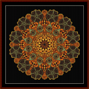 Fractal 523 cross stitch pattern by Cross Stitch Collectibles | Crafting | Cross-Stitch | Wall Hangings