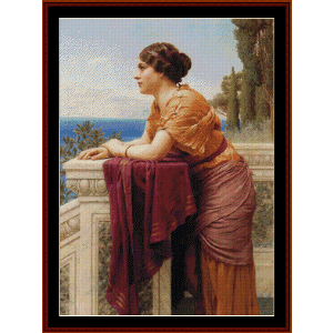 The Belvedere, 1913 - Godward cross stitch pattern by Cross Stitch Collectibles | Crafting | Cross-Stitch | Wall Hangings