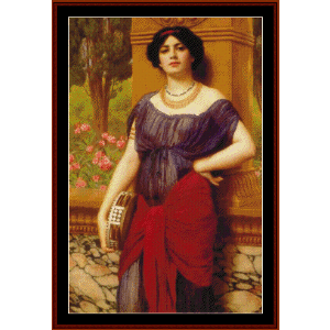 The Tambourine Player, 1909 - Godward cross stitch pattern by Cross Stitch Collectibles | Crafting | Cross-Stitch | Wall Hangings