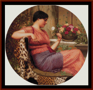 The Time of Roses, 1916 - Godward cross stitch pattern by Cross Stitch Collectibles   Crafting   Cross-Stitch   Wall Hangings
