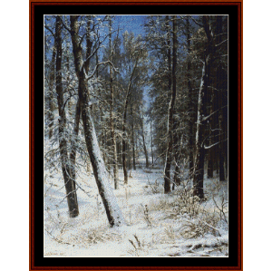 Winter in a Forest, 1877 - Shishkin cross stitch pattern by Cross Stitch Collectibles | Crafting | Cross-Stitch | Wall Hangings