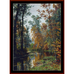 Park in Pavlosk, 1881 - Shishkin cross stitch pattern by Cross Stitch Collectibles | Crafting | Cross-Stitch | Wall Hangings