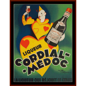 Cordial Medoc - Vintage Poster cross stitch pattern by Cross Stitch Collectibles | Crafting | Cross-Stitch | Wall Hangings