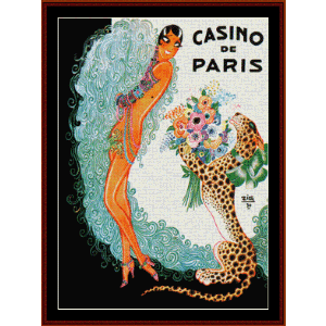 Josephine Baker, Casino de Paris - Vintage Poster cross stitch pattern by Cross Stitch Collectibles | Crafting | Cross-Stitch | Wall Hangings