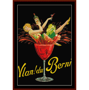 Vlan du Berni - Vintage Poster cross stitch pattern by Cross Stitch Collectibles | Crafting | Cross-Stitch | Wall Hangings