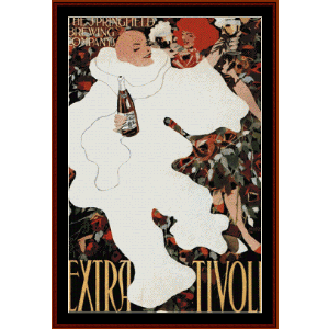 Extra Tivoli, 1896 - Vintage Poster cross stitch pattern by Cross Stitch Collectibles | Crafting | Cross-Stitch | Wall Hangings