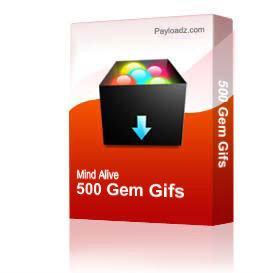 500 Gem Gifs | Other Files | Stock Art