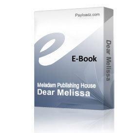 Dear Melissa | eBooks | Fiction