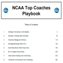 2015 NCAA Top Coaches Playbook | eBooks | Sports