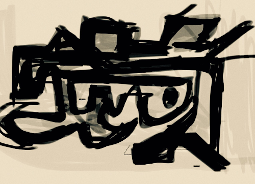First Additional product image for - abstract drawing 1