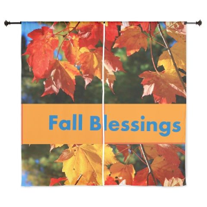 fall blessing curtains