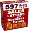 597 Sales Letters And Business Forms | Software | Business | Other