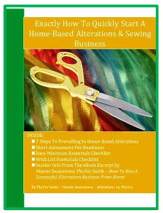 Exactly How To Quickly Start A Home-Based Alterations & Sewing Business | eBooks | Education