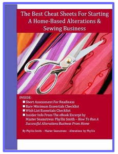 the best cheat sheets for starting a home-based alterations & sewing business
