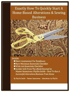 exactly how to quickly start a home-based alterations & sewing business (brown)