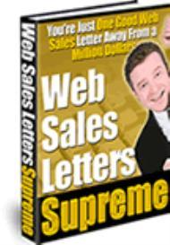 Web Sales Letters SUPREME | eBooks | Business and Money