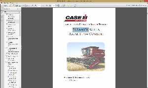 case ih 7120 - 9120 series axial-flow combine service maintenance manual