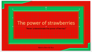 strawberry powerpoint presentation