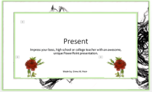 beautiful  dark rose presentation template