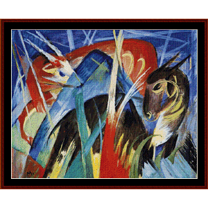 Fairy Animals, 1913 - Franz Marc cross stitch pattern by Cross Stitch Collectibles | Crafting | Cross-Stitch | Wall Hangings