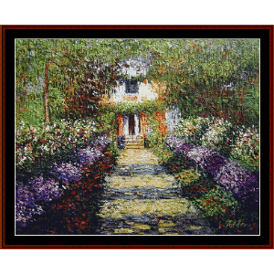 A Pathway in Monet's Garden - Monet cross stitch pattern by Cross Stitch Collectibles | Crafting | Cross-Stitch | Wall Hangings