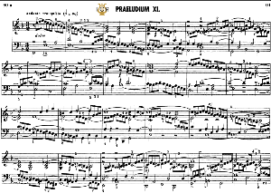 Prelude and fugue No.11 in F Major BWV 880, J.S.Bach, Well Tempered Clavier II, Bischoff Urtext Ed.Schirmer, A5, Tablet Edition, 8pp   eBooks   Sheet Music