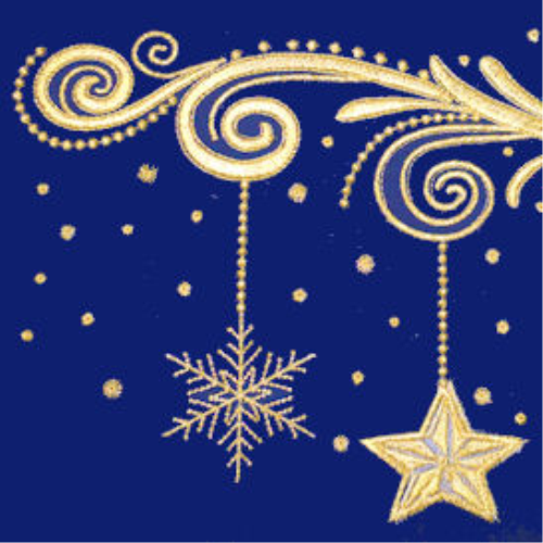First Additional product image for - Laura's Sewing Studio Golden Christmas ART 4X4